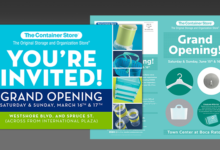 Container Store Grand Opening Collateral
