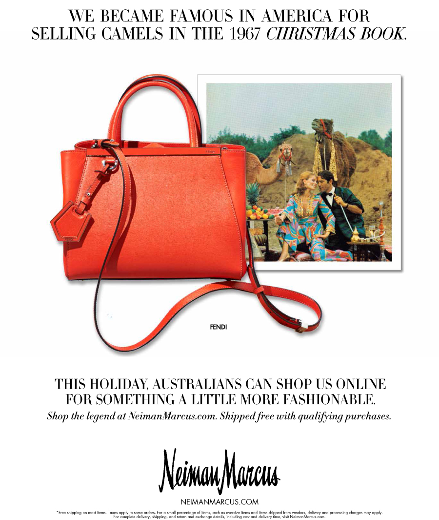 Magazine Ads In Signage And Illustration Created For Neiman Marcus