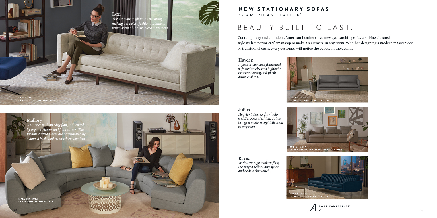 Brochures Created For American Leather Luxury Furniture Company In Dallas,  TX. These Brochures Were Used At American Leatheru0027s High Point, ...